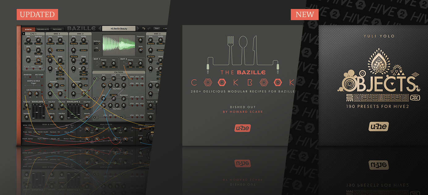 Bazille 1.1.1 update, Bazille Cookbook soundset released, Hive Objects soundset released