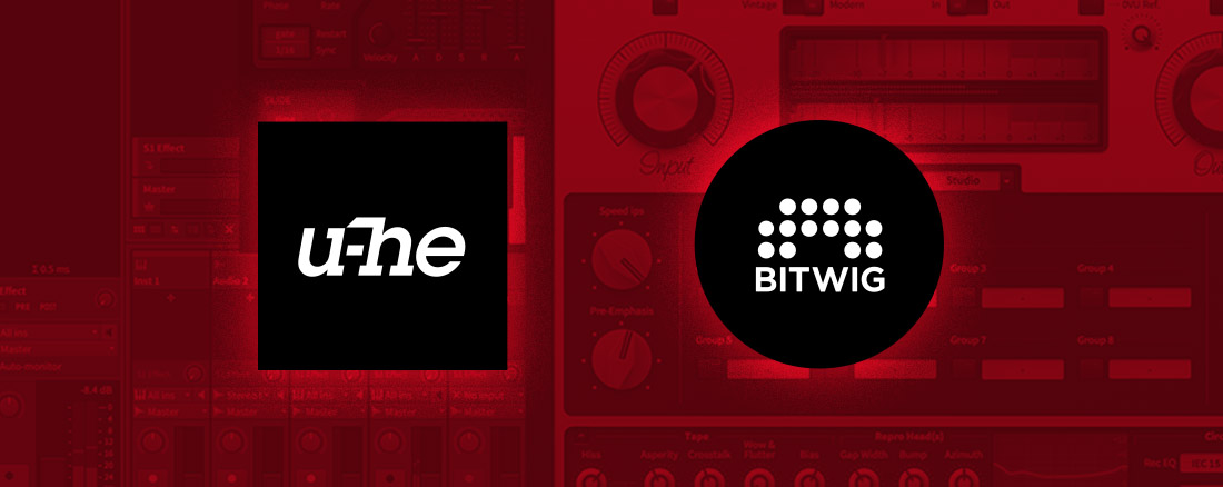 u-he and Bitwig promotion