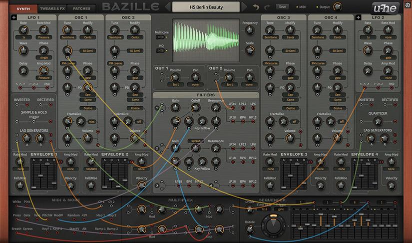 Bazille: Modular Synthesizer | u-he