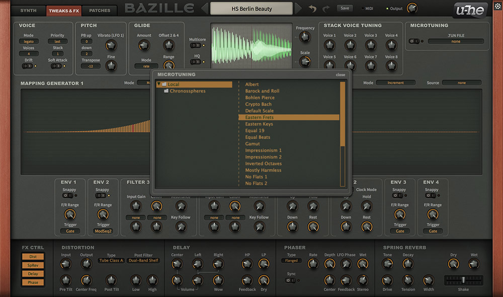 Bazille: Modular Synthesizer   u-he