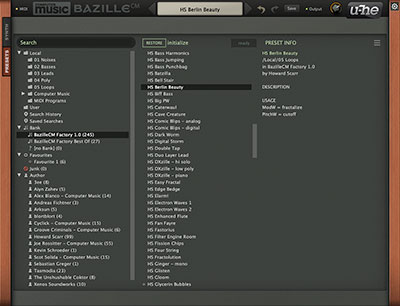 BazilleCM preset browser