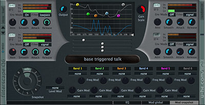 FilterscapeQ6 interface with EQ module