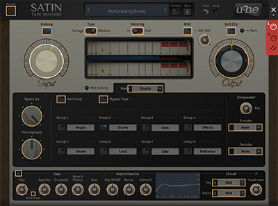 Satin's MIDI learn screen for quick controller assignment